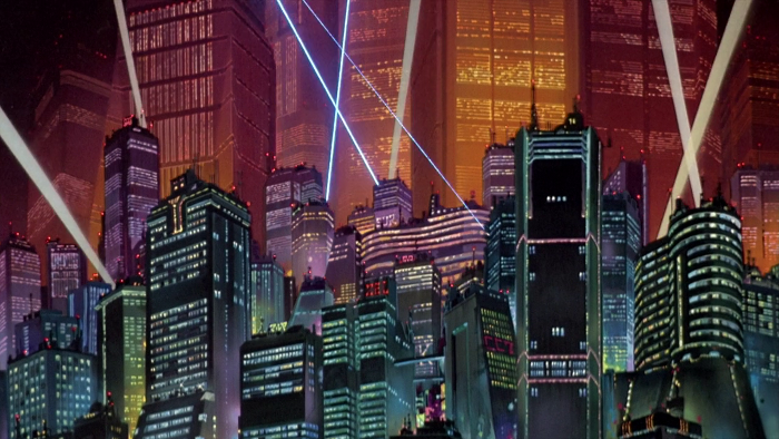 Neo-Tokyo, as it appears in the film. (TMS Entertainment)