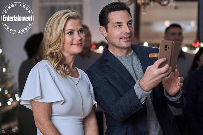 """<p><strong>Premieres:</strong> Nov. 12, 8 p.m. ET/PT, Hallmark Channel</p> <p><strong>Stars:</strong> Alison Sweeney, Erica Durance </p> <p><strong>Contains:</strong> Christmas card mystery</p> <p><strong>Official description:</strong> """"When Nicky finds an unopened Christmas card from a high school secret admirer, she and her best friend Simone search to find and thank the anonymous author.""""</p>"""