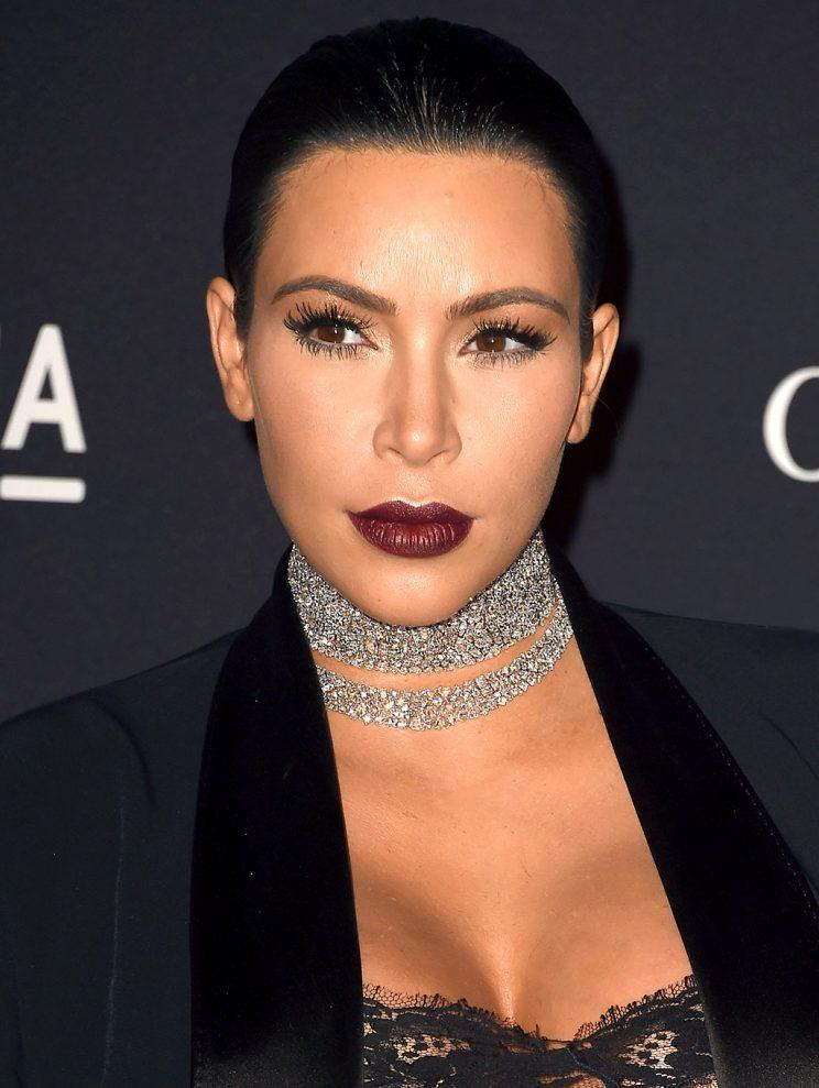 Those Kardashians are such drama queens! Kim certainly was when she opted for a dark plum lipstick at a November 2015 gala. (Photo: Steve Granitz/WireImage)