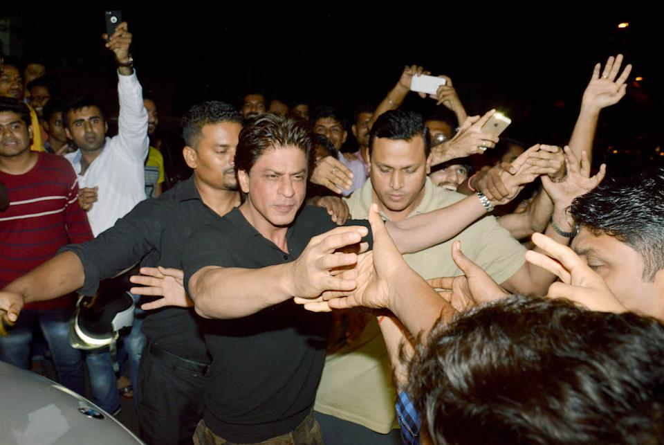It doesn't come as a surprise when the superstar is surrounded by heavy security wherever he goes.