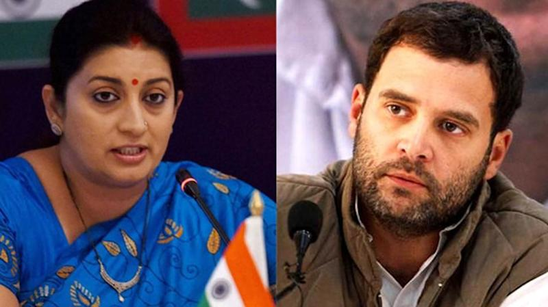 Why does Rahul run away from tax officials: Smriti Irani