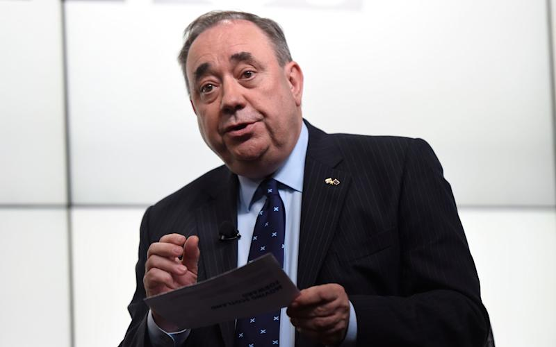 Alex Salmond has admitted the SNP will use a big win in the general election in Scotland to push for independence - DAVID ROSE/THE DAILY TELEGRAPH