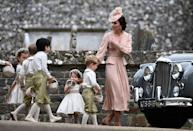 <p>The Duchess may have had the hardest job of them all on the day of her sister, Pippa Middleton's wedding... trying to keep all the little ones well behaved. But the mother of two certainly did a great job.</p>