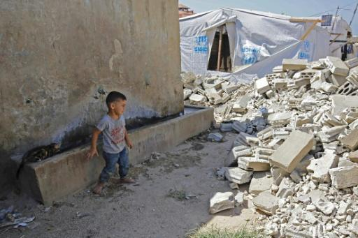 Authorities have destroyed shelters in Lebanon, where homes made of anything other than timber and plastic sheeting are not allowed