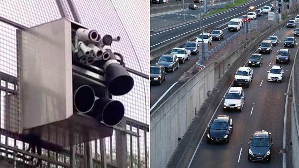 "New ""smart"" cameras will detect drivers on their mobile phones. Source: 7 News"