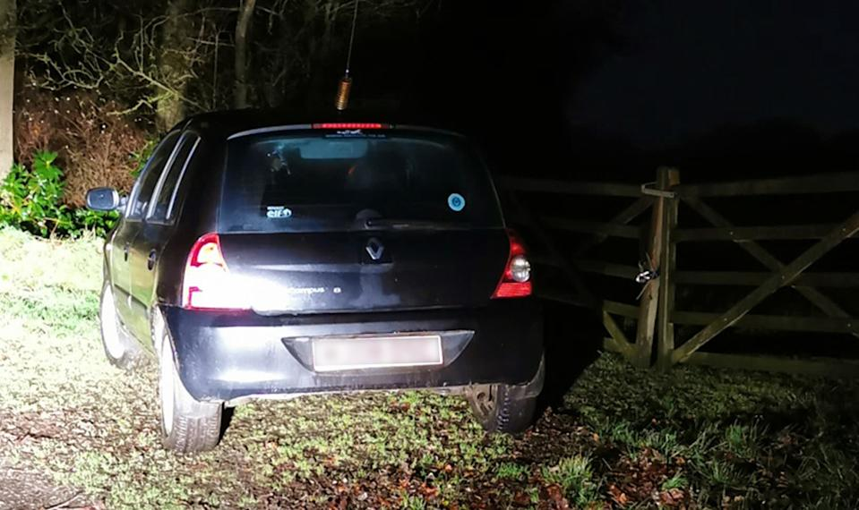 Mason's car near the woodlands where Rodda was murdered. (PA/Cheshire Constabulary)