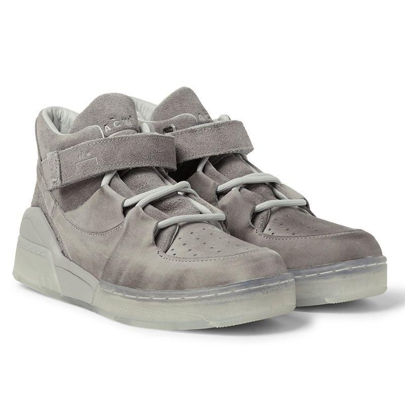 """<p><strong>Converse </strong></p><p>mrporter.com</p><p><strong>$160.00</strong></p><p><a href=""""https://go.redirectingat.com?id=74968X1596630&url=https%3A%2F%2Fwww.mrporter.com%2Fen-us%2Fmens%2Fproduct%2Fconverse%2Fshoes%2Fhigh-top-sneakers%2Fplus-a-cold-wall-leather-and-suede-high-top-sneakers%2F14097096494519285&sref=https%3A%2F%2Fwww.esquire.com%2Fstyle%2Fmens-fashion%2Fg29339512%2Fbest-winter-sneakers%2F"""" rel=""""nofollow noopener"""" target=""""_blank"""" data-ylk=""""slk:Buy"""" class=""""link rapid-noclick-resp"""">Buy</a></p><p>Across the pond, team A-Cold-Wall* did up another all-time silhouette in a leather and suede take I'd be loathe to call even remotely winter-ready were it not for the fact that these bad boys look like they'd beat the elements in a one-on-one fight, every damn time. </p>"""