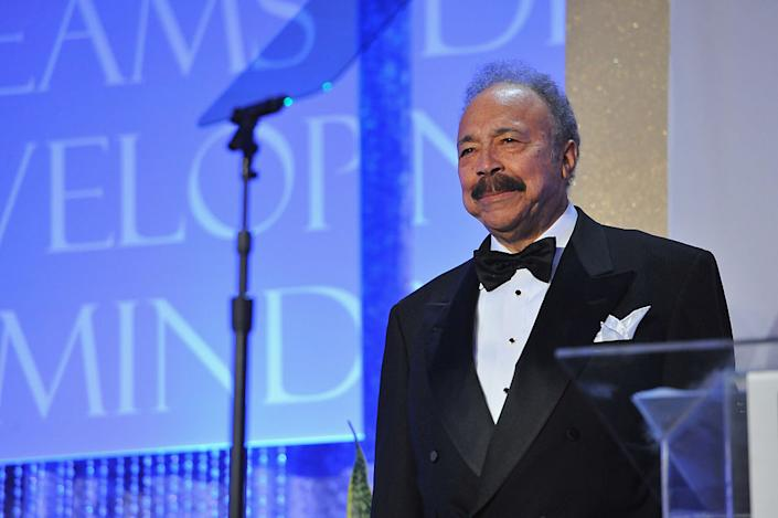 Educational Leadership Award Recipient, President of Hampton University Dr. William R. Harvey speaks on stage the Thurgood Marshall College Fund 26th Awards Gala at Washington Hilton on November 12, 2014 in Washington, DC. (Photo by Larry French/Getty Images for Thurgood Marshall College Fund)