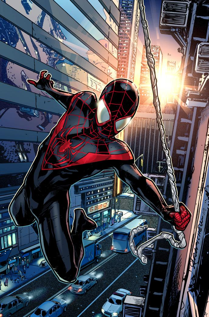 "In this publicity image released by Marvel Comics, a comic illustration of Spider-Man is shown. Marvel Comics says Peter Parker is taking off his costume for good as part of its ""Death of Spider-Man"" story in its Ultimate Comics imprint. The publisher said Monday, April 18, 2011, that Parker, who in ""Ultimate Spider-Man"" is still a high schooler in New York, is losing the red-and-blue threads but won't say if the teenager is in mortal peril, much less who will replace him. But what's certain is that Ultimate Spider-Man is here to stay. (AP Photo/Marvel Comics)"