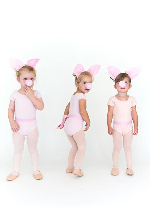 """<p>As effortless to pull together as it is darling, this costume will help you and your littles make memories as lovely as they will be lasting. </p><p><strong>Get the tutorial at <a href=""""https://sayyes.com/2016/09/three-little-pigs-halloween-costume"""" rel=""""nofollow noopener"""" target=""""_blank"""" data-ylk=""""slk:Say Yes"""" class=""""link rapid-noclick-resp"""">Say Yes</a>.</strong></p><p><a class=""""link rapid-noclick-resp"""" href=""""https://go.redirectingat.com?id=74968X1596630&url=https%3A%2F%2Fwww.walmart.com%2Fip%2FGirls-Footed-Tights-with-Smooth-Self-Knit-Waistband%2F120471318&sref=https%3A%2F%2Fwww.countryliving.com%2Fdiy-crafts%2Fg32906192%2Fdiy-group-halloween-costume-ideas%2F"""" rel=""""nofollow noopener"""" target=""""_blank"""" data-ylk=""""slk:SHOP PINK TIGHTS"""">SHOP PINK TIGHTS</a><strong><br></strong></p><p><strong>RELATED: <a href=""""https://www.countryliving.com/diy-crafts/g4975/toddler-halloween-costume-ideas/"""" rel=""""nofollow noopener"""" target=""""_blank"""" data-ylk=""""slk:35 Toddler Halloween Costumes for Your Cute Little Guy or Ghoul"""" class=""""link rapid-noclick-resp"""">35 Toddler Halloween Costumes for Your Cute Little Guy or Ghoul</a></strong></p>"""