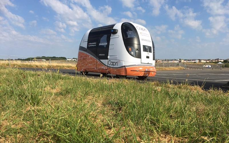 The public are getting their first chance to ride in the pods developed by the Capri consortium are being - CAPRI