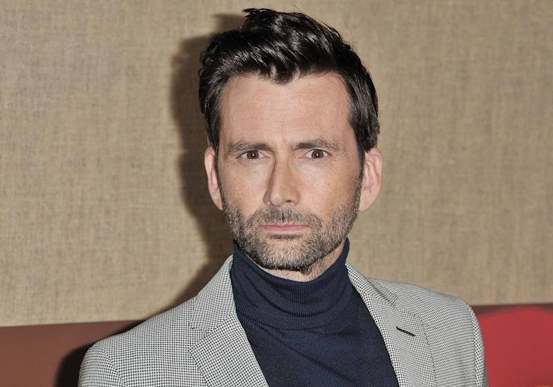 """David Tennant arrives at HBO's """"Camping"""" Los Angeles Premiere held at the Paramount Studios in Hollywood, CA on Wednesday, October 10, 2018. (Photo By Sthanlee B. Mirador/Sipa USA)"""