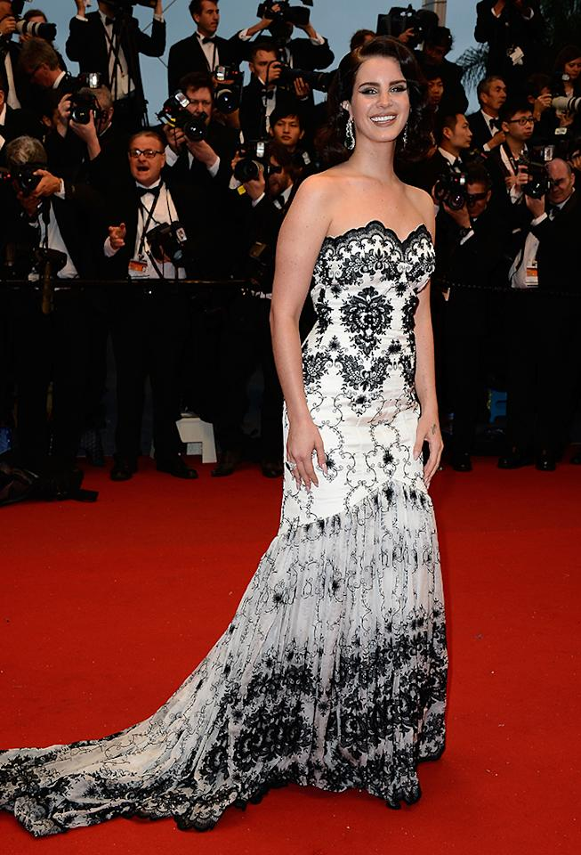 CANNES, FRANCE - MAY 15:  Lana Del Rey attends the Opening Ceremony and 'The Great Gatsby' Premiere during the 66th Annual Cannes Film Festival at the Theatre Lumiere on May 15, 2013 in Cannes, France.  (Photo by Pascal Le Segretain/Getty Images)