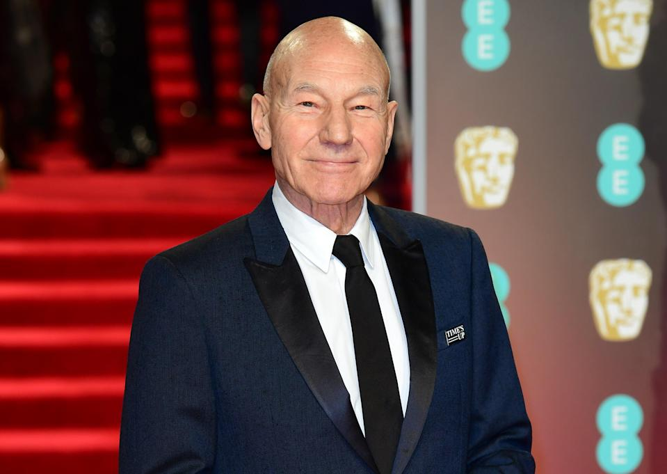 Patrick Stewart attending the EE British Academy Film Awards held at the Royal Albert Hall in 18. (PA)