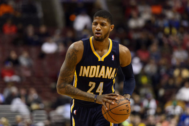 Paul George dunks on Henry Sims to punctuate Pacers win over Sixers (Video)