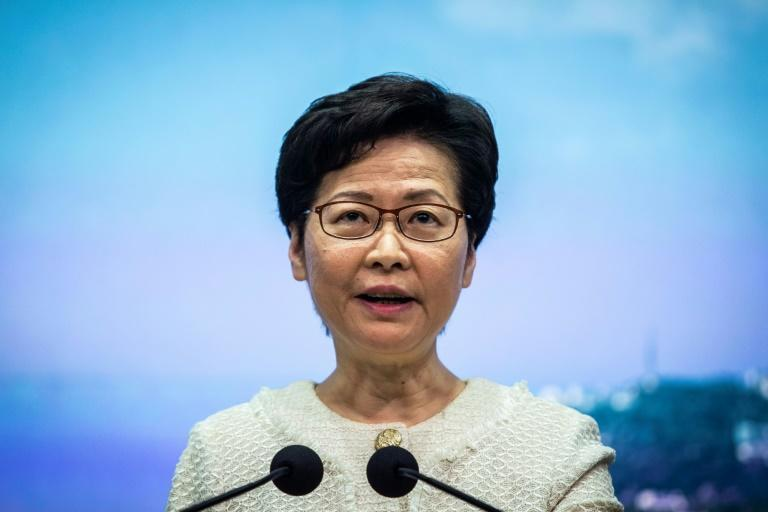 """The US said Hong Kong Chief Executive Carrie Lam, pictured in July 2020, is """"directly responsible"""" for implementing Beijing's policies of suppression of freedom and democracy"""