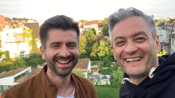 """European Parliament memberRobert Biedron (right) and his partner, Krzysztof Smiszek, are among those to appear in the new version of""""You Need To Calm Down"""" featuring Polish LGBTQ advocates. (Photo: Jakub Kwiecinski)"""