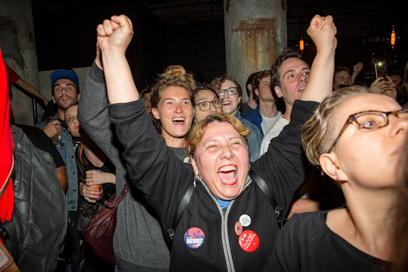 Despite Gov. Andrew Cuomo's easy win, insurgent progressives celebrated a near sweep of down-ballot races in New York's Democratic primaries. (Scott Heins via Getty Images)