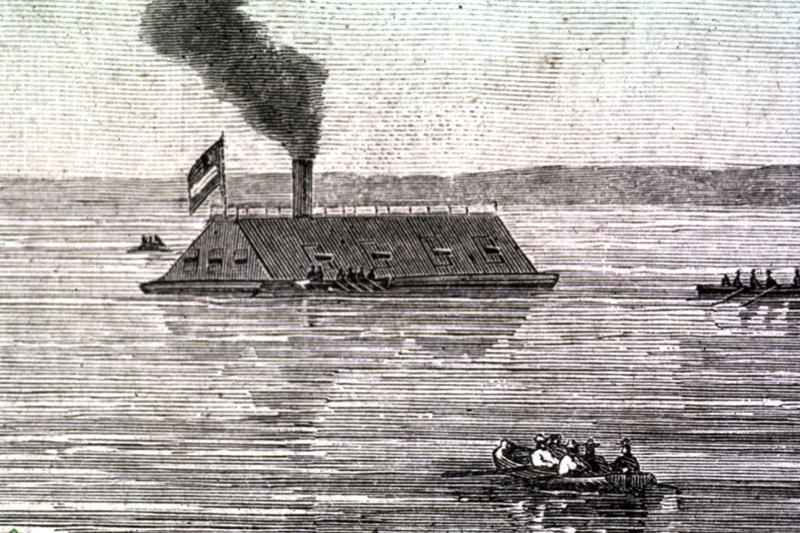 This undated image provided on Friday, May 4, 2012 by the U.S. Army Corps of Engineers shows a rendering of the CSS Georgia, a Confederate warship that sank in the Savannah River nearly 148 years ago in Savannah, Ga. The Army Corps of Engineers plans to spend $14 million to raise and preserve the sunken Confederate ironclad to make room for deepening Savannah's harbor. (AP Photo/U.S. Army Corps of Engineers)