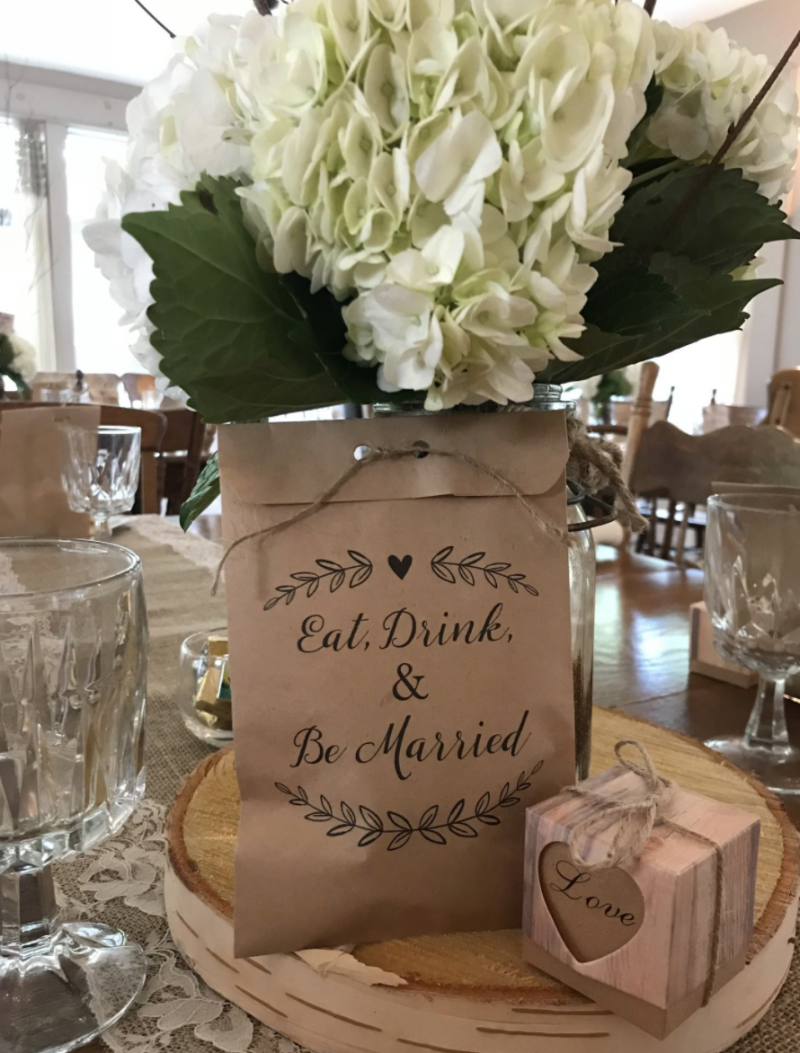 Pictured is a place setting for a wedding hosted at Big Moose Inn. More than 175 cases of coronavirus have been linked to a wedding hosted at the venue.