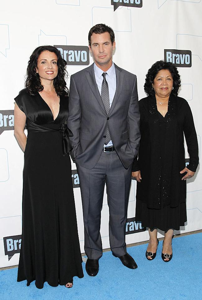 """Real estate guru Jeff Lewis and his partners in crime, Jenni Pulos and Zoila Chavez, looked rather calm and relaxed at the event. No """"Flipping Out"""" here! Mark Von Holden/<a href=""""http://www.gettyimages.com/"""" target=""""new"""">GettyImages.com</a> - March 10, 2010"""