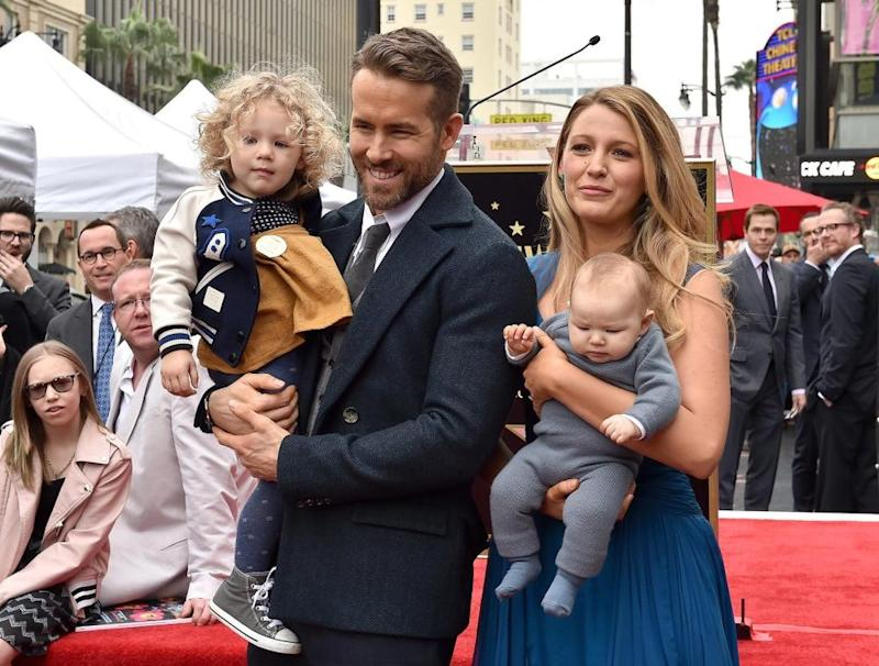 Ryan Reynolds and Blake Lively with daughters | Axelle/Bauer-Griffin/FilmMagic