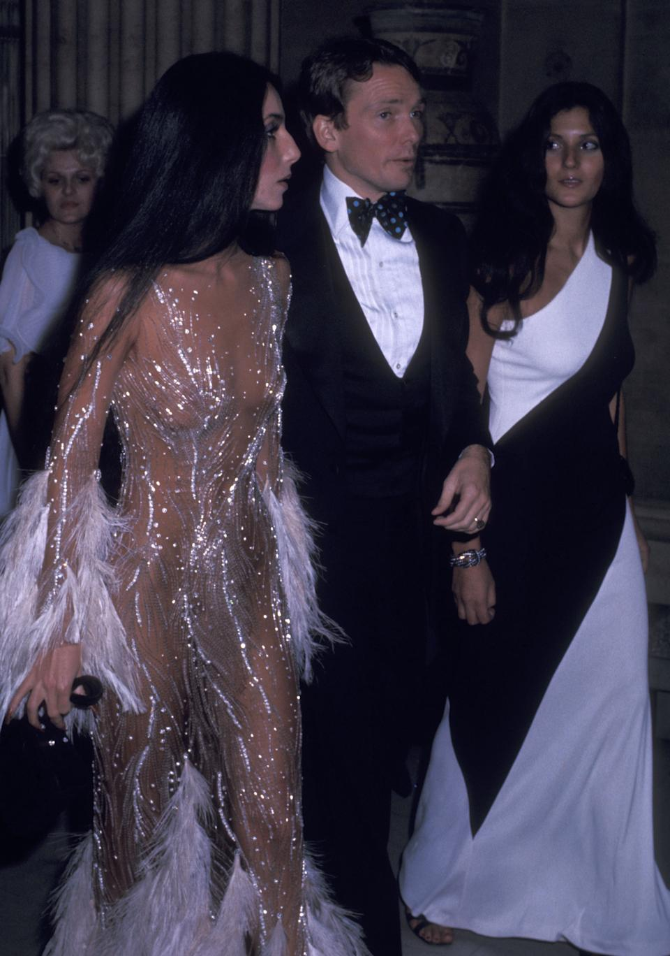 NEW YORK CITY - NOVEMBER 20:   Singer Cher, fashion designer Bob Mackie and Cher's friend Paulette Betts attend The Metropolitan Museum of Art's Costume Insitute Gala Exhibition