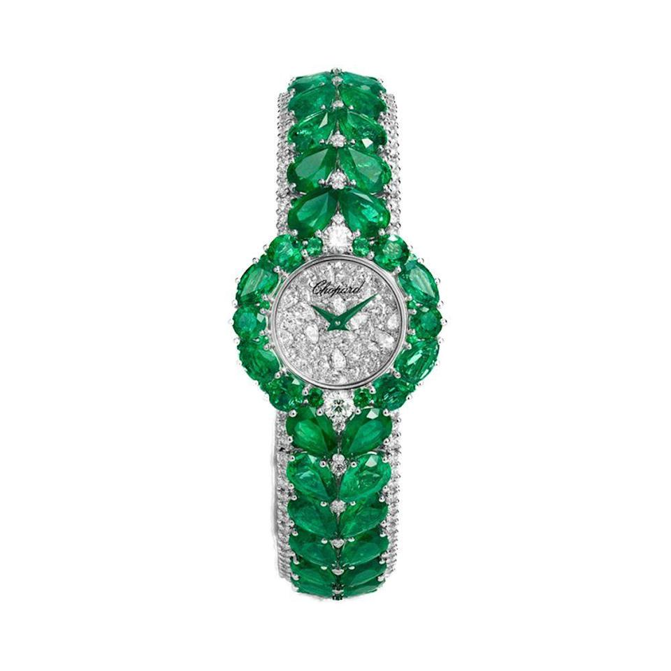 "<p><strong>Chopard</strong></p><p>Chopard</p><p><a href=""https://www.chopard.com/us/"" rel=""nofollow noopener"" target=""_blank"" data-ylk=""slk:Price Upon Request"" class=""link rapid-noclick-resp"">Price Upon Request</a></p><p>Chopard's Haute Joaillerie, a Red Carpet Collection designed in partnership with the Cannes Film Festival, is nothing short of real life artwork. This year the collection includes the dazzling Esperanza watch. Glowing with beautiful pearshaped and round-cut emeralds and diamonds, this masterpiece took Chopard artisans more than 515 hours of work to complete.</p><p>Available at select Chopard boutiques.</p>"