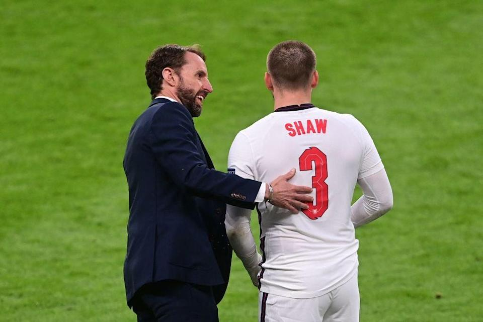 Luke Shaw was let off the leash against the Czechs (POOL/AFP/Getty)