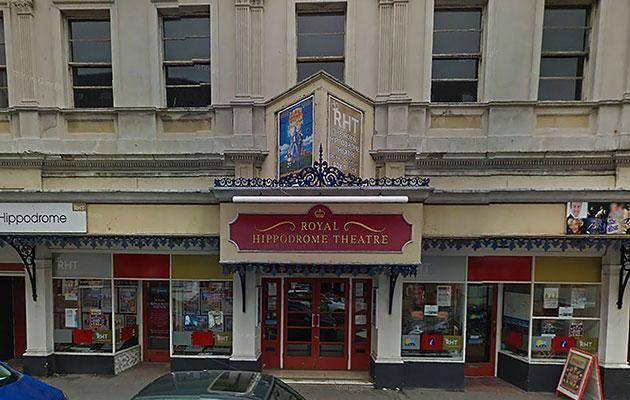 Daniel was on a ghost hunt at the Royal Hippodrome Theatre, in Eastbourne. Photo: Caters News