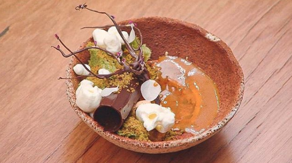 Reynold won immunity last night for his Alice in Wonderland themed dessert. Photo: Channel 10