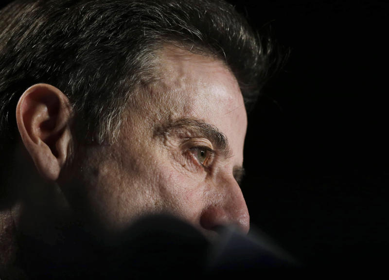 Louisville coach Rick Pitino speaks during a news conference before a practice for the second round of the NCAA men's college basketball tournament Wednesday, March 20, 2013, in Lexington, Ky. Louisville will play North Carolina A&T on Thursday. (AP Photo/John Bazemore)