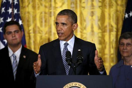 Obama delivers remarks on the Clean Power Plan at the White House in Washington