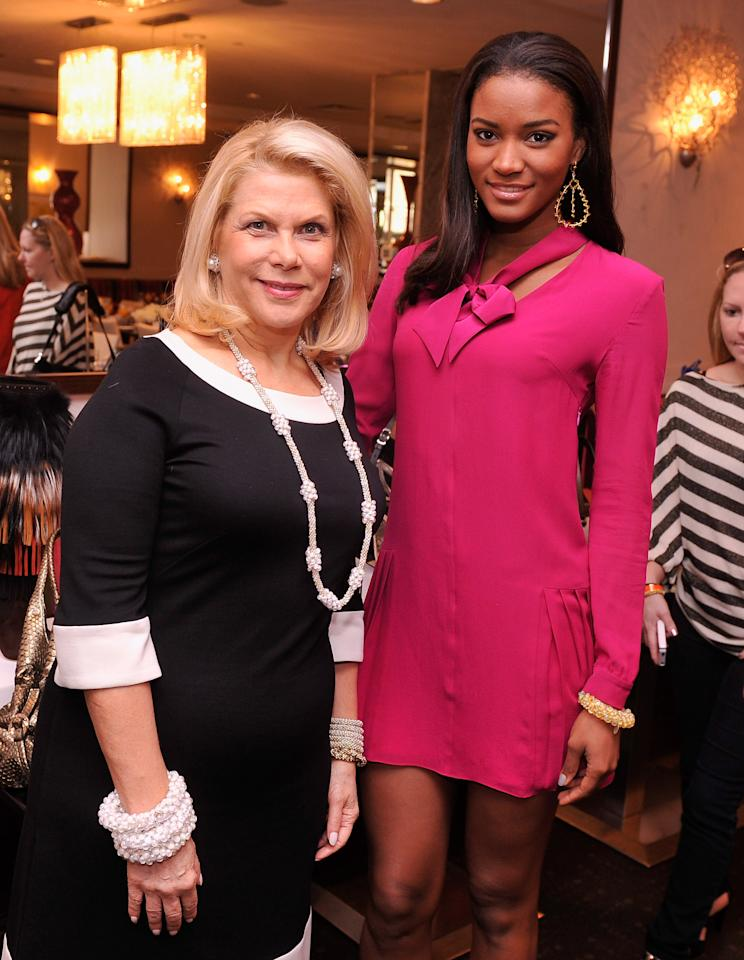 NEW YORK, NY - SEPTEMBER 21:  Producer/philanthropist Francine LeFrak and Miss Universe 2011 Leila Lopes attend the UN Women For Peace And Same Sky Ethical Shopping Event at Saks Fifth Avenue on September 21, 2012 in New York City.  (Photo by Stephen Lovekin/Getty Images)