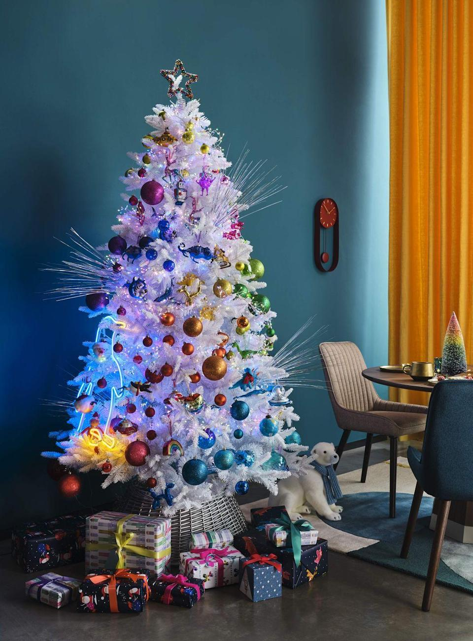 """<p>This bold trend is perfect for creating a statement look in the home at Christmas. Inspired by virtual reality and cartoons, it's jam-packed with punchy colours and exaggerated features. </p><p>John Lewis add: """"This is pure escapism with a big pinch of fun and optimism that we predict will be a huge hit with children this year."""" </p>"""