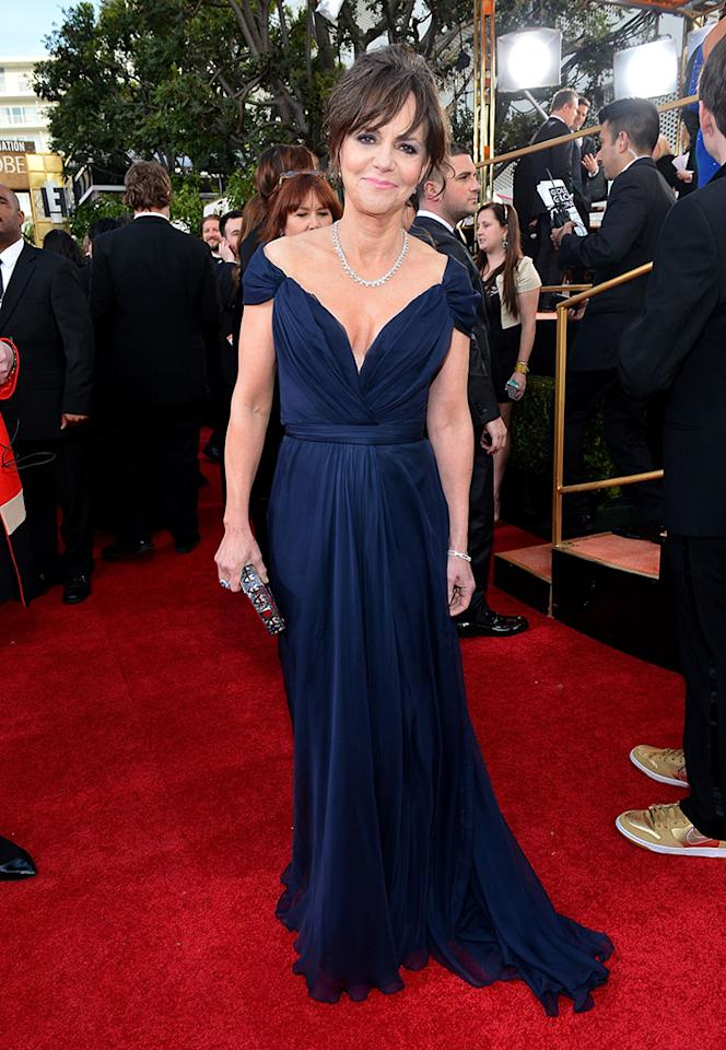 Sally Field arrives at the 70th Annual Golden Globe Awards at the Beverly Hilton in Beverly Hills, CA on January 13, 2013.