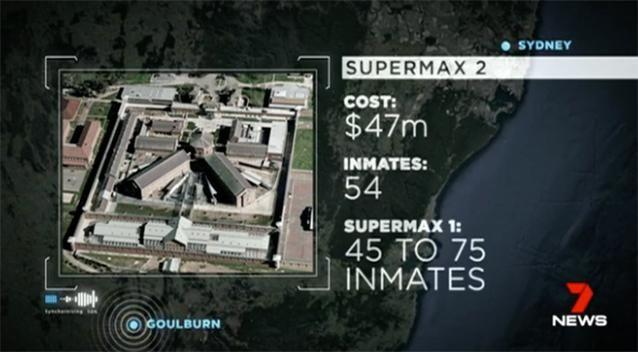 The building of the new prison will cost about $47 million. Source: 7 News