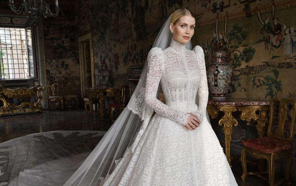 Lady Kitty Spencer on her wedding day