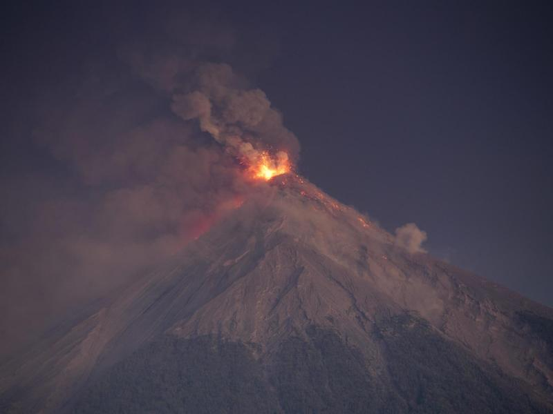 The Fuego volcano erupted in June, killing at least 194 people – possibly hundreds more: AP