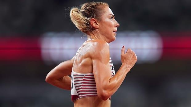 Canada's Kate Van Buskirk finished fourth in the pro women's race of the Fifth Avenue Mile on Sunday, clocking four minutes 23.9 seconds in New York City. (Aleksandra Szmigiel/Reuters/File - image credit)