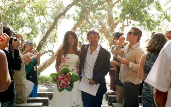 Sarah Rodrigues and her husband had a relaxed, outdoor wedding, with few traditions