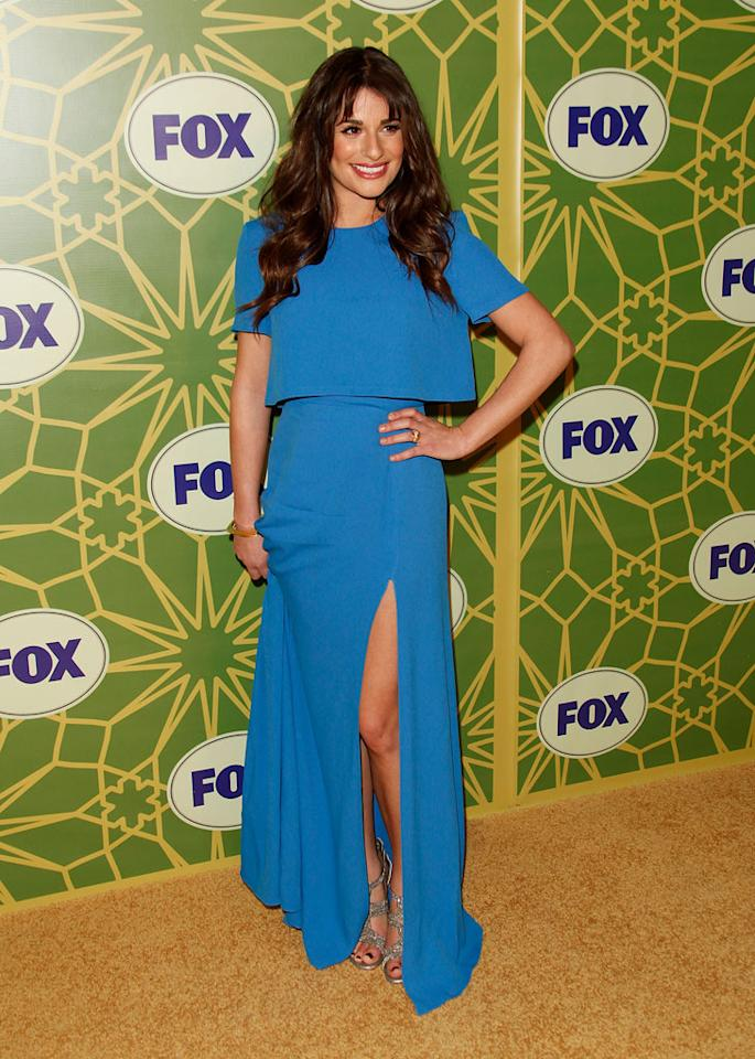 "<a href=""/lea-michele/contributor/723097"">Lea Michele</a> (""<a href=""/glee/show/44113"">Glee</a>"") attends the 2012 Fox Winter TCA All-Star Party at Castle Green on January 8, 2012 in Pasadena, California."