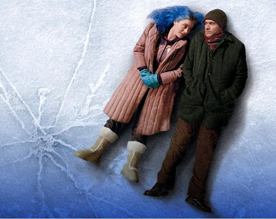 """<p><em>Eternal Sunshine of the Spotless Mind</em> breaks all the rules for romances, starting after the central couple has already broken up. Joel (Jim Carrey), still reeling from heartbreak, seeks out a procedure that'll erase Clementine (Kate Winslet) from his memory. The resulting trip through his mind, and memories of his past with Clementine, result in something more poignant than a straightforward rom-com could provide.</p><p><a class=""""link rapid-noclick-resp"""" href=""""https://www.amazon.com/Eternal-Sunshine-Spotless-Mind-Carrey/dp/B001TAFCBC?tag=syn-yahoo-20&ascsubtag=%5Bartid%7C10063.g.34933377%5Bsrc%7Cyahoo-us"""" rel=""""nofollow noopener"""" target=""""_blank"""" data-ylk=""""slk:WATCH ON AMAZON"""">WATCH ON AMAZON</a> <a class=""""link rapid-noclick-resp"""" href=""""https://go.redirectingat.com?id=74968X1596630&url=https%3A%2F%2Fitunes.apple.com%2Fus%2Fmovie%2Feternal-sunshine-of-the-spotless-mind%2Fid303440550&sref=https%3A%2F%2Fwww.redbookmag.com%2Flife%2Fg34933377%2Fbest-romantic-movies%2F"""" rel=""""nofollow noopener"""" target=""""_blank"""" data-ylk=""""slk:WATCH ON ITUNES"""">WATCH ON ITUNES</a></p>"""