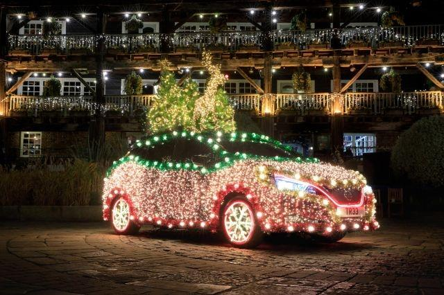 Nissan's Leaf turns into a festive Nissan holiday Tree for the winter season