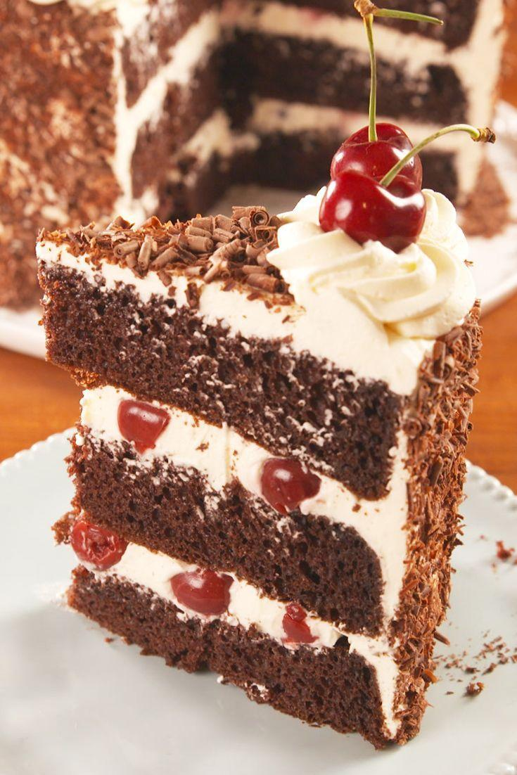 """<p>Fresh cherries >> maraschinos.</p><p>Get the recipe from <a href=""""https://www.delish.com/cooking/recipe-ideas/a22004663/easy-black-forest-cake-recipe/"""" rel=""""nofollow noopener"""" target=""""_blank"""" data-ylk=""""slk:Delish"""" class=""""link rapid-noclick-resp"""">Delish</a>.</p>"""