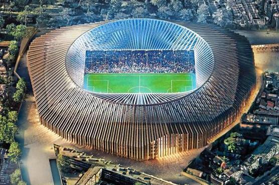 Chelsea's new £500m stadium located at their current home Stamford Bridge has been approved: Hussain Nazrul/Herzog and de Meuron/Hammersmith and Fulham Council
