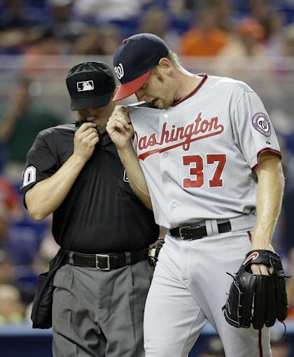 Stephen Strasburg is dealing filthy stuff this season for the Nats. (AP)