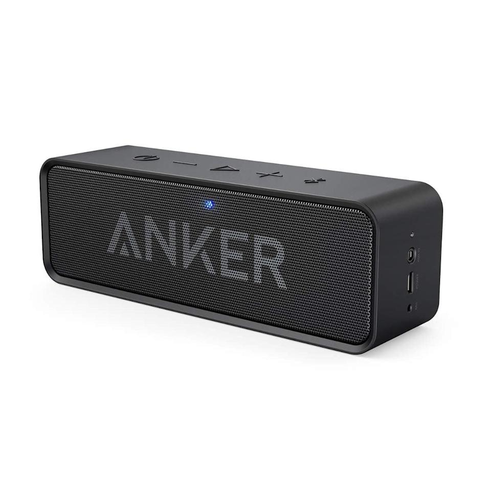 <p>Get stereo sound with the lightweight <span>Anker Soundcore Bluetooth Speaker</span> ($28). It's waterproof with a 24-hour playtime.</p>