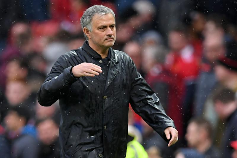 Furious Jose Mourinho walks off after his team's defeat to West Brom handed the Premier League title to Man City