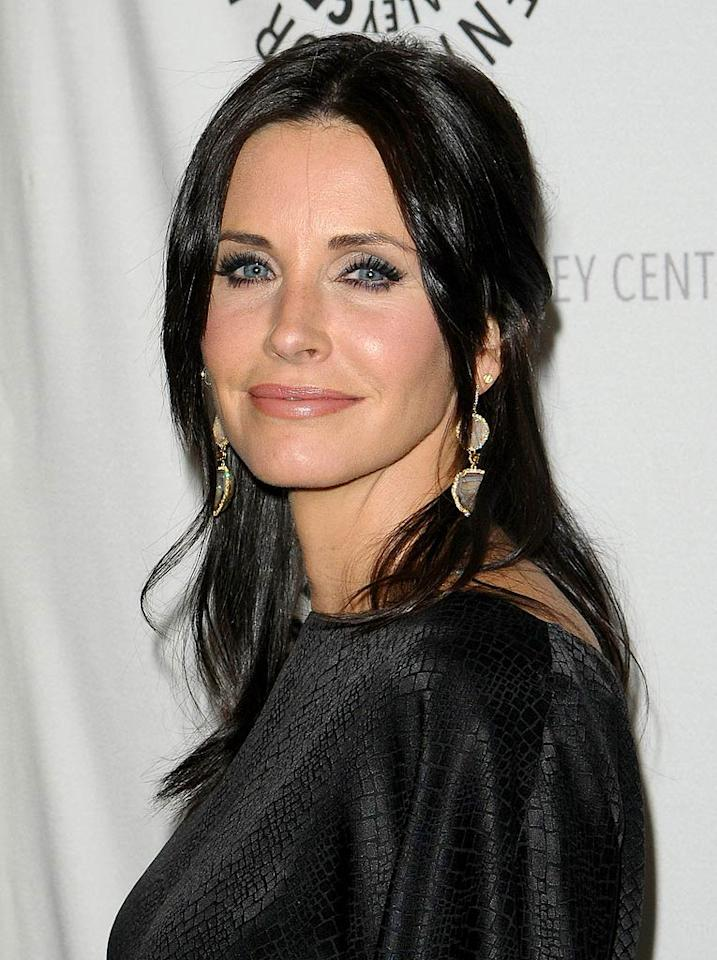 """We've been watching Courteney Cox on the small screen since the '80s, when she played Alex P. Keaton's girlfriend on """"Family Ties."""" Yet today, the """"Cougar Town"""" actress -- who turns 46 on June 15 -- looks even prettier. Jason LaVeris/<a href=""""http://www.filmmagic.com/"""" target=""""new"""">FilmMagic.com</a> - March 5, 2010"""